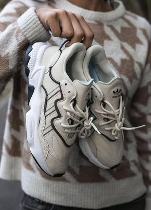 "Женские кроссовки ""adidas ozvego white milk"""