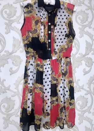 Цветное красивое летнее платье
