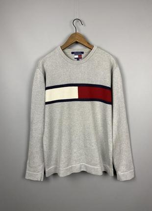 {m}tommy hilfiger jeans big logo свитер