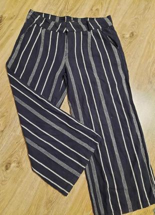 Льняные штаны большого размера, штани палаццо