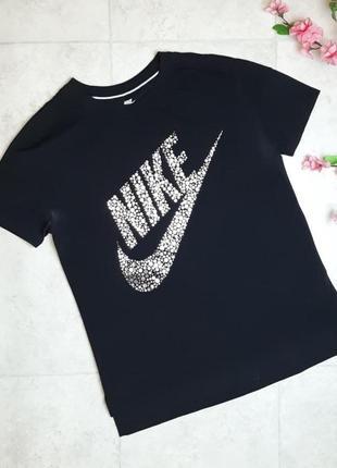 1+1=3 базовая черная женская футболка nike оригинал, размер 46 - 48