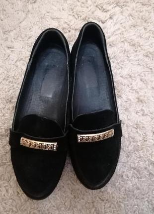 Туфли замшевые лоферы