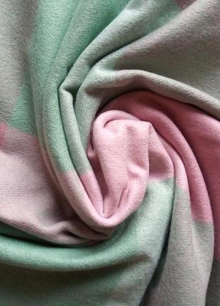 Кашемировый шарф в клетку, фисташковый