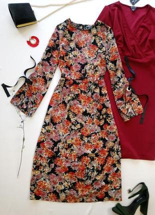 Длинное цветочное платье primark