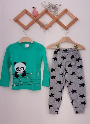 Подростковая пижамка на девочку со штанами - панда