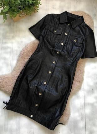 Moschino премиум класс брэндовое кожаное платье