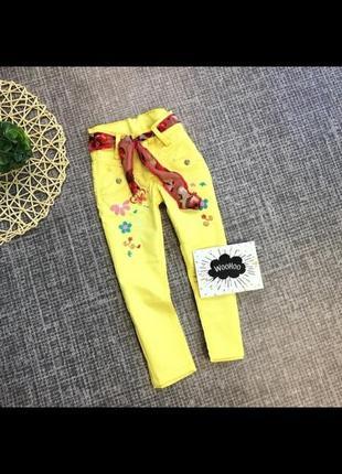 Яскраві катонові штанішки для дівчаток