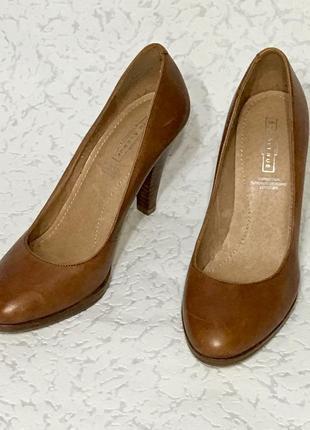 Шикарные кожаные туфли 👠 лодочки