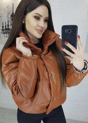 Модная женская куртка из эко кожы