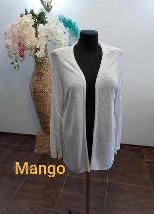 Серебристая кофта жакет кардиган mango