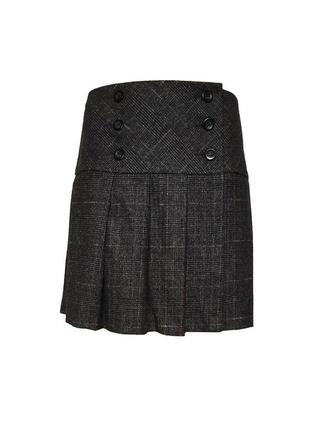 Шерстяная классическая юбка на запах benetton