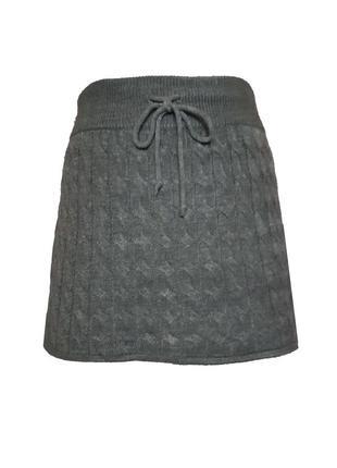 Вязаная юбка h&m, s-m