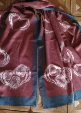 Натуральный шарф.