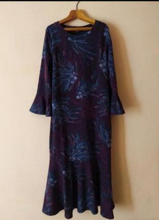 Теплое платье миди сукня пдаття осінь зима 👍