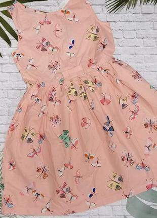 Легкое хлопковое платье h&m на 8-9 лет