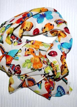 Лёгкий шарф платок натуральный шёлк codello