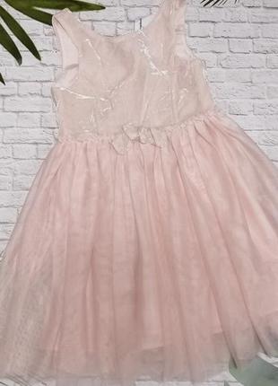 Нарядное платье h&m на 6-7 лет