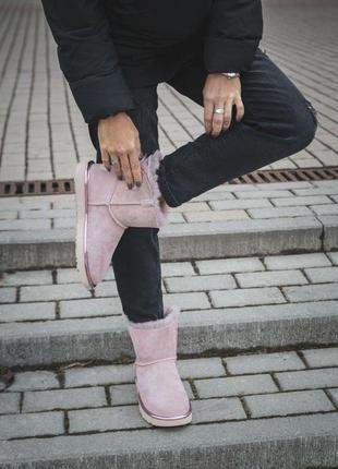 "Женские угги ""ugg mini bailey bow ll pink"""