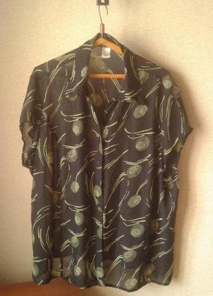 Блуза черно-салатового цвета,германия,батал.