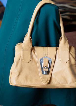 Кожаная летняя сумка от silver rose