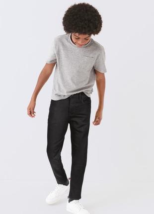 Новые джинсы на мальчика черного цвета тм next 6-14 лет