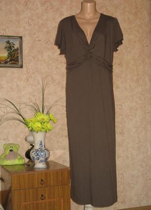 Длинное летнее трикотажное платье размер евро 44/46