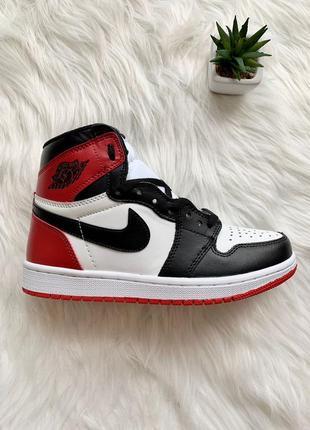 Nike air jordan 1 retro red black женские кроссовки наложенный платёж купить