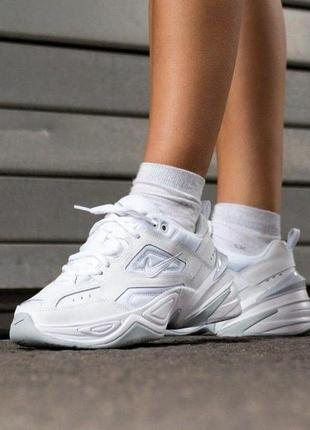 Nike m2k tekno white leather