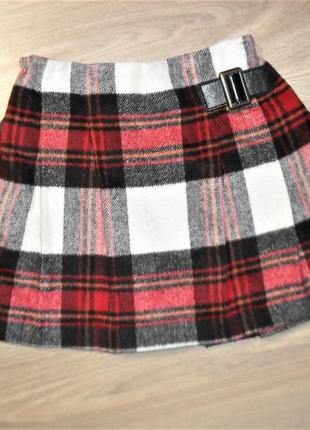 Теплая юбка некст на 4-5лет рост 110