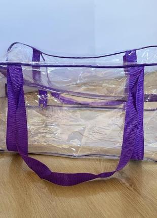 Большая сумка в роддом прозрачная