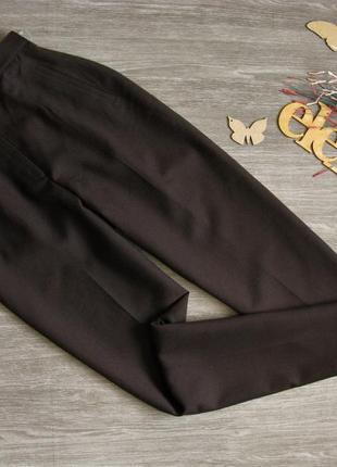 Шикарные шерстяные брюки с высокой посадкой eur 38/ 40