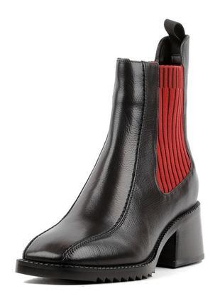 Ботинки челси квадратный носок, новинка
