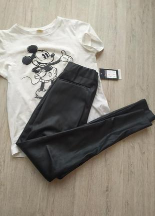Качественные лосины  брюки штаны под кожу кожаные штаны