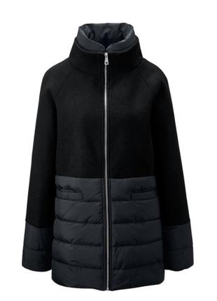 Теплое стеганное пальто с шерстью от tchibo(германия), размеры наши: 44-46 (38 евро)