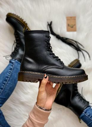 Dr. martens 1460 lux без меха доп. шнурки женские ботинки наложенный платёж купить