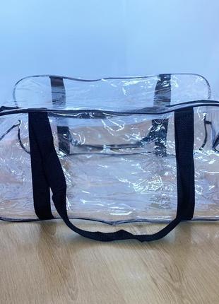 Вместительная сумка в роддом прозрачная