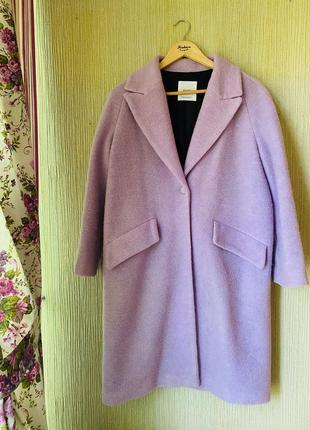 Пальто оверсайз mango, шерстяное пальто ,