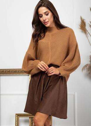 Роскошная юбка замш