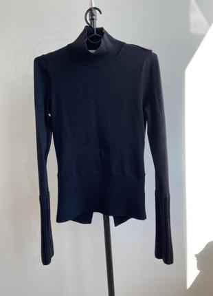 Karen millen шерстяной свитер гольф с высокими манжетами
