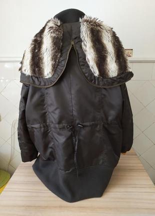 Ультромодная куртка парка с карманами на молниях..хаки.батал