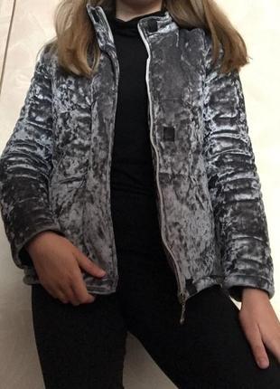 Бархатная тёплая куртка на зиму куртка на осень зимова куртка осіння куртка