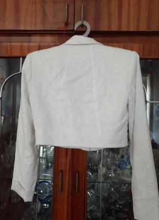 Ляной пиджак болеро.