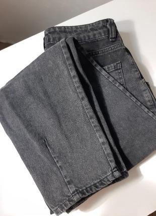 Джинсы чёрные мом джинсы бананы слоучи