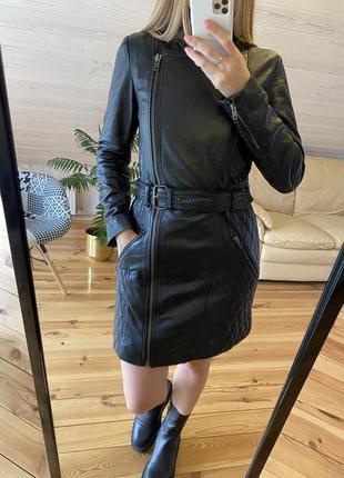 Кожаный плащ куртка 100% кожа!!!