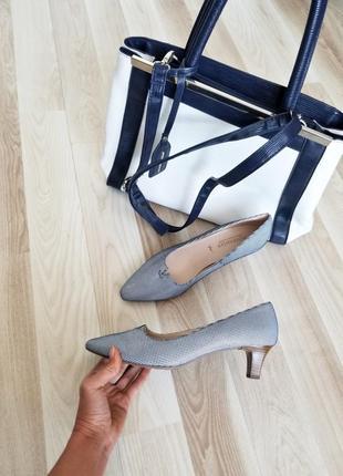 Дорогие шикарные кожаные туфли лодочки принт гусиные лапки