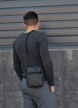 Невелика чоловіча сумка месенджер барсетка через плече екошкіра экокожа мессенджер