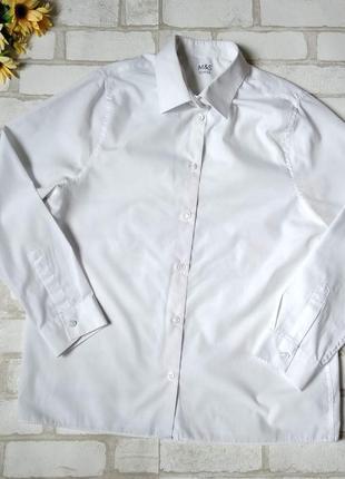 Рубашка m&s school на мальчика белая