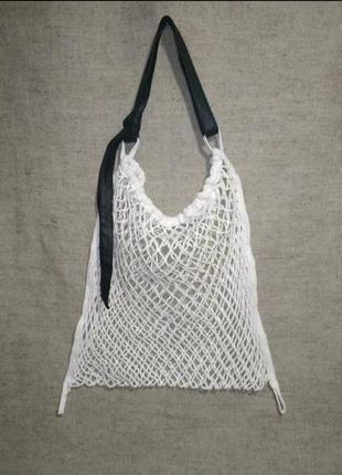 Плетёная сумка сетка авоська