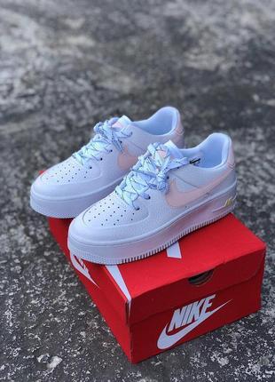 Шикарные женские кроссовки nike air force 1 sage low white новинка