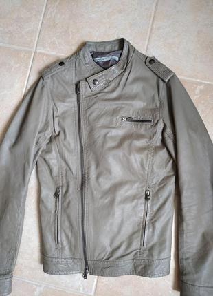 Кожаная итальянская куртка косуха